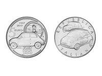 ВЧОРА БУЛА ВИПУЩЕНА СРІБНА МОНЕТА НА ЧЕСТЬ FIAT 500